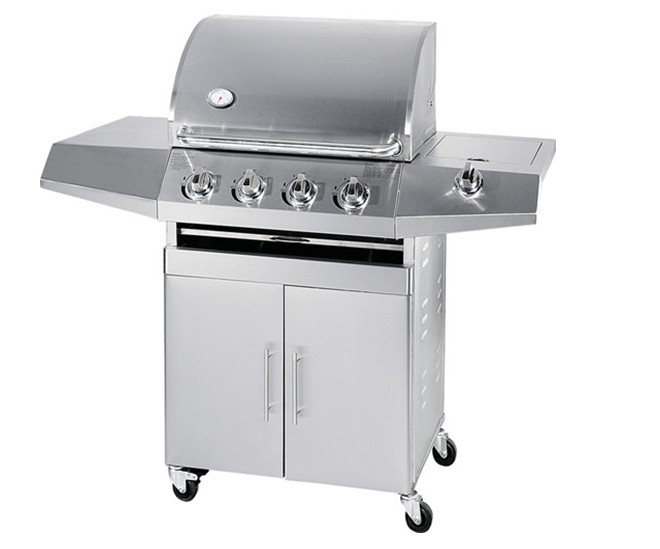 NS-LB04 4Burner Stainless Steel 1Side Burner Gas Grill BBQ