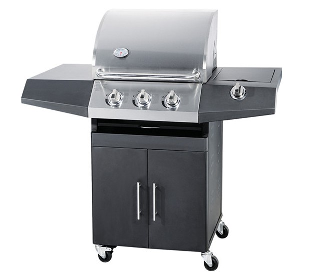 NS-LP03 3 Main Burnr With 1 Side Burner Coating Body Gas Grill BBQ