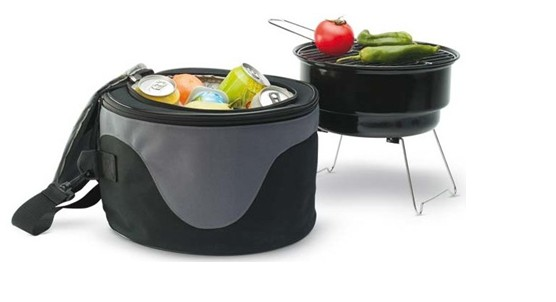 Portable Outdoor Charcoal Bbq Barbecue Grill With A Cooler