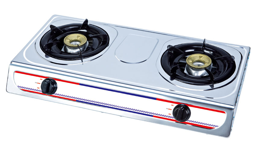 2 Burner Stainless Steel Body Gas Stove