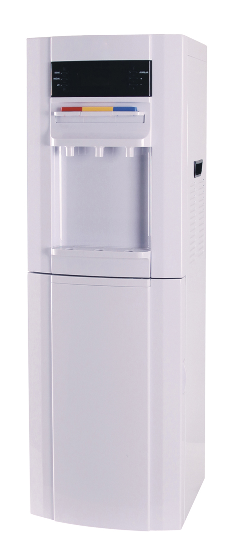 Water dispenser with 16L refrigerator.with LED display