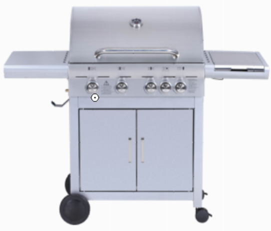 NS-BLS04A 4 Main Burner Gas Grill Barbecue With 1 Side Burner